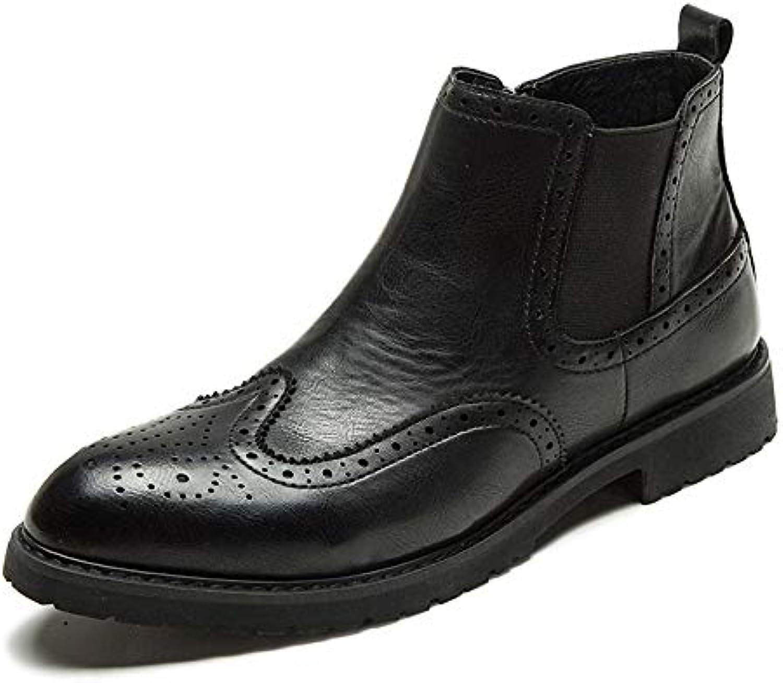 Jiuyue-scarpe, Stivaletti Chelsea da Uomo, Stivaletti alla Caviglia Stile Classico Casual con Stampa Brogue Scarpe... | Nuovo Arrivo  | Maschio/Ragazze Scarpa