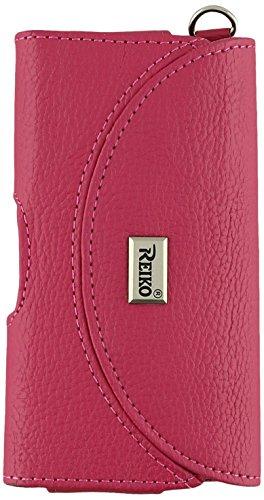 Reiko HP146-IPHONE4PLHPK Schutzhülle für iPhone4G, Querformat, Hot Pink - Hot Pink Horizontal Pouch
