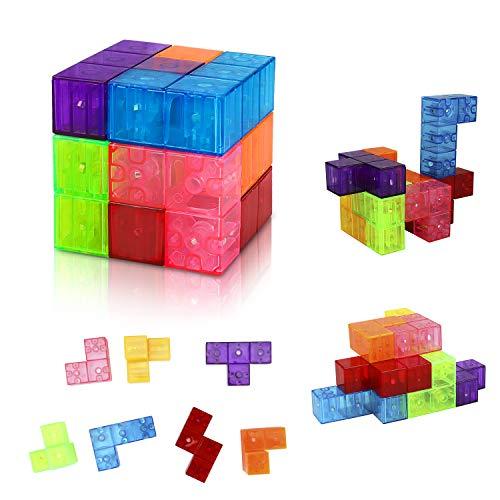 Welltop Juguetes magnéticos Cubos mágicos niños