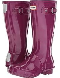 Hunter Kids Original Gloss Rubber Pull On Wellington Violet-Violet-13 Size 13