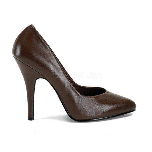 PleaserUSA High Heels-Pumps Seduce-420 Leder Braun