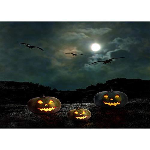 JUNERAIN Halloween Thema Fotografie Hintergrund Stoff Hintergrund Studio Dekor (W16)