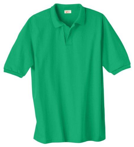 Hanes Herren Comfortblend EcoSmart Jersey Polo Kelly Green