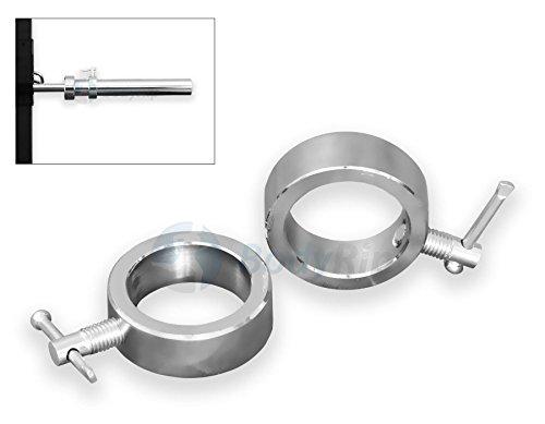 BodyRip 5,1cm Olympischen Schraubzwinge Halsbänder Paar Hantel Barbell rund Halsband chrom