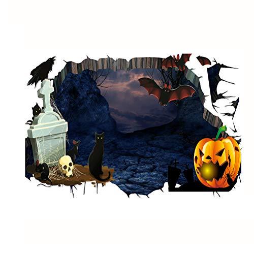 D Wandaufkleber Halloween Wandbild Boden Dekoration Aufkleber für Home Bar Party ()