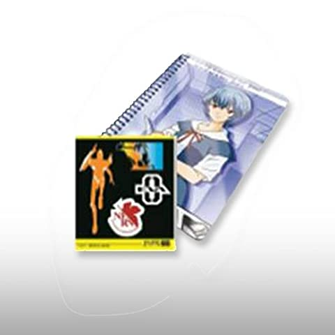 Kuji Evangelion ~ LIFE with EVA ~ E prize ring notebook and stickers Rei single item most (japan import)