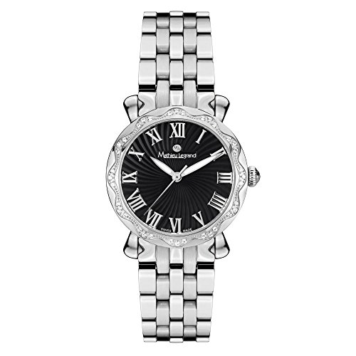Mathieu Legrand Reloj con Movimiento Cuarzo Suizo Unisex Mlg-2107B Les Vagues