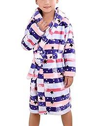 Niños Ropa De Dormir Otoño Invierno Espesar Elegante Ropa De Noche Manga Larga V-Cuello Estampadas Fashionista con Cinturón…