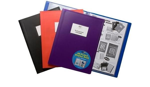 Tiger A4 flexicover 100 pocket display book presentation folder flexible cover