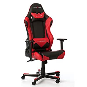 DXRacer Racing RF0 OH/REO/NR Gaming Stuhl Gaming Chair schwarz / rot
