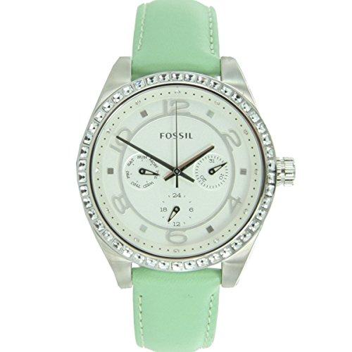 Original Fossil BQ1226 Women's WatchLeather Chrono Date Green 7027