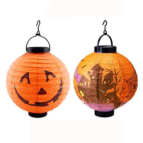 Amosfun 2 unids LED light up Halloween calabaza linterna