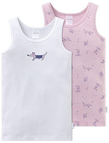 Schiesser Mädchen Unterhemd 2-Pack Hemd, 2er, Mehrfarbig (Sortiert -