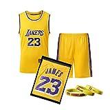 Photo de BUY-TO Ensemble de Maillots de Basket Lebron James # 23 La Saison 2019 des Lakers de Los Angeles Fans de la NBA pour Hommes Adultes par BUY-TO