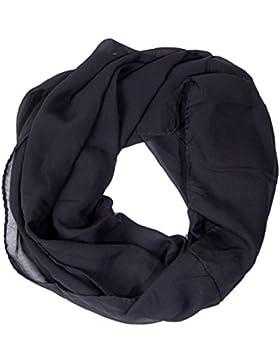 ManuMar Loop-Schal für Damen   feines Hals-Tuch mit Unifarben als perfektes Sommer-Accessoire   Schlauch-Schal...