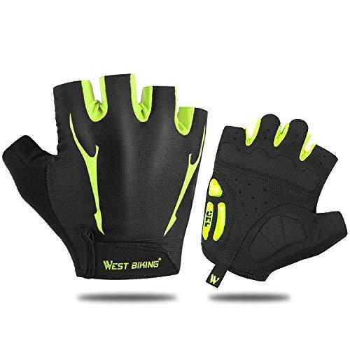 West Biking Fahrradhandschuhe für Damen Herren Frauen Manner, Winddicht Silikon Touchscreen Vollfinger Handschuh für Smartphone Mountainbike Rennrad Reiten (Für Rennrad Herren)