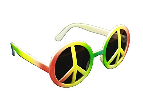 Peace Brille - HAAC Gag Party Brille mit Peacezeichen
