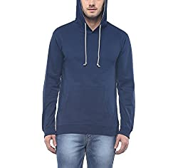 American Crew Mens Full Sleeves Navy Blue Hoodie - XL (AC1207-XL)