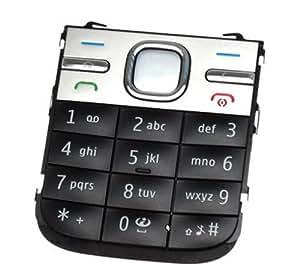 Orig. Ersatzteil Nokia C5-00 Tastaturmatte Latin Black