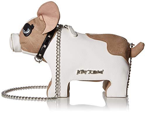 Betsey Johnson Damen Crossbody Roxy Frenchie Dog, Umhängetasche, weiß, Einheitsgröße