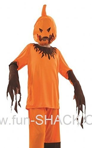 Scary Pumpkin - Halloween - Childrens Fancy Dress Costume - Large - 136cm - Age 8-10 by Fun (Pumpkin Scary Halloween)