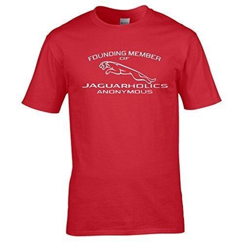 Naughtees Strampler, jaguarholics Anonymous T-Shirt. Tolles für alle liebt ihre Jag. Rot - Rot