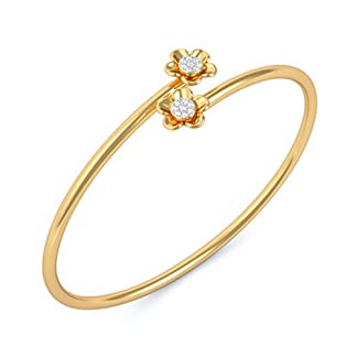 BlueStone 14k (585) Yellow Gold and Diamond Mona Flexible Bangle