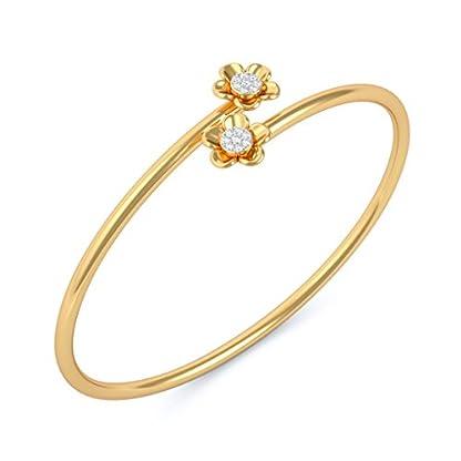 BlueStone 14k (585) Yellow Gold and Diamond Mona Flexible Bangle