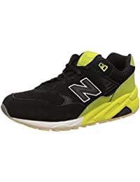 MRT580UG Solarized Pack Herren Sneakers (42.5, Black/Neon Yellow) New Balance