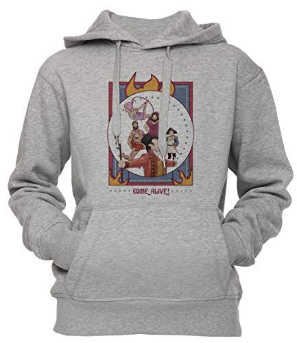Erido Come Alive! - Greatest Showman Unisex Herren Damen Kapuzenpullover Sweatshirt Pullover Grau Größe S Men's Women's Hoodie Grey Small Size S