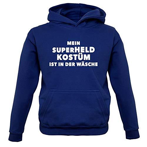 11 Superhelden Kostüm Jahre - Dressdown Mein Superheld Kostüm Ist in Der Wäsche - Kinder Hoodie/Kapuzenpullover - Marineblau - XL (9-11 Jahre)