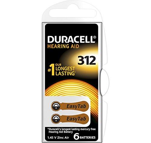 60 Duracell Activair Hearing Aid Batterien Gr. 312 Hörgerätebatterien (10x 6er Blister) PR41 Braun 24607 (Duracell Hörgeräte-batterien 10)