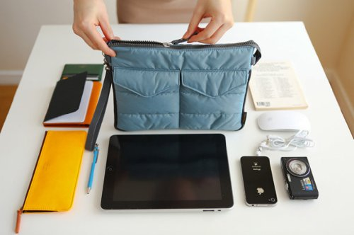 Brilliance Co Aufbewahrungsbeutel Organizer Innentasche für Geldbeutel, Laptop-Tasche - Blau