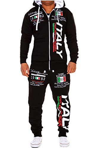 Herren Jogginganzug Bella Italia (XL, Schwarz)