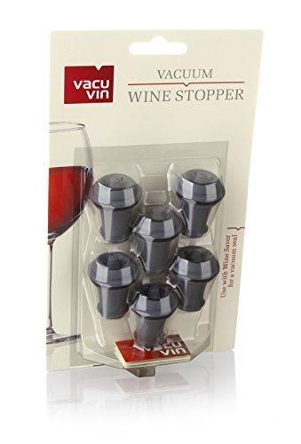 confronta il prezzo Vacu Vin 0086341 -Tappo per bottiglie di vino, 6 pezzi, colore: grigio miglior prezzo