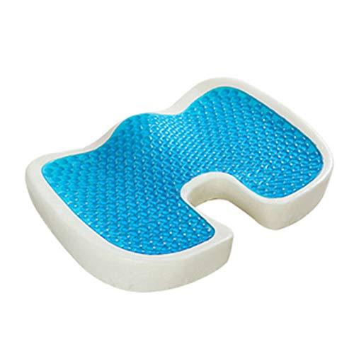 HBRT Gel-Memory-Foam-Sitzkissen Cooles Rutschfeste orthopädische Gel-Steißbeinkissen für Steißbeinschmerzen Ischias- und Steißbeinentlastung für Büro und Stuhl, Auto -