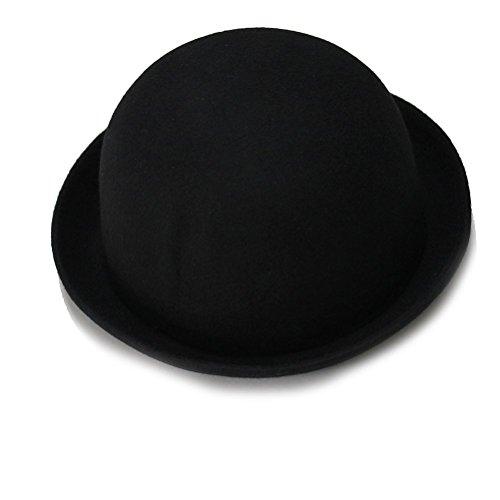 WINOMO Melone Frauen Wollmütze Hut (Schwarz)