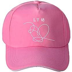 ZIGJOY BTS Gorras de béisbol con el Sombrero del Cubo de Bangtan Boys Beanies JIE Rosado