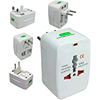 MADHAV All in One Universal Travel Adapter Plug | Worldwide Charger | Surge Protector | Supports 150+ Countries (White)