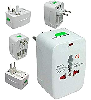 MADHAV All in One Universal Travel Adapter Plug | Worldwide Charger | Surge Protector | Supports 150+ Countries  White