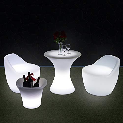 Paddia Stuhl-Plastikschemel LED leuchtende kreative Bar-Möbel-im Freien Bunte Barhocker Bunte Leuchtwürfel-quadratischer Plastikschemel-Stehtisch und Stühle Barhocker Kreative...
