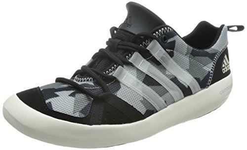 Adidas Boat Lace Segelschuh Unisex schwarz-grau, Größe EU 43 1/3 (UK 9) -