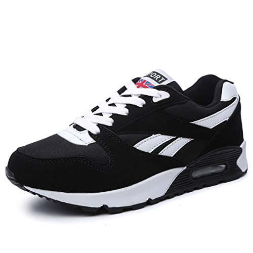 Men's Breathable Platform Health Lose Weight Running Shoes Black