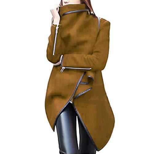 TianWlio Mäntel Frauen Weihnachten Damen Mantel Langarm Strickjacke Jacke Outwear Herbst Winter Unregelmäßige Bow Zipper Langarm Warm Mantel Wolljacke Parka Windbreaker