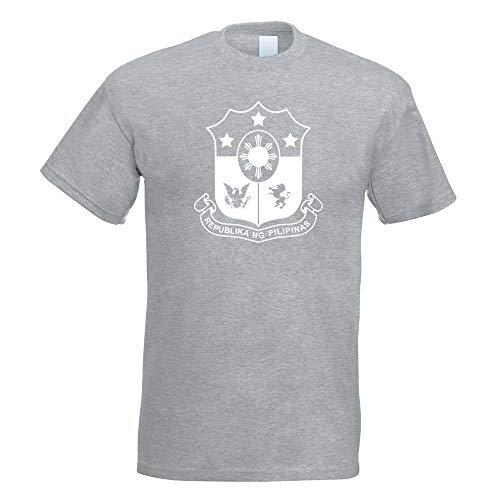 Kiwistar Philippinen Wappen T-Shirt Motiv Bedruckt Funshirt Design Print -