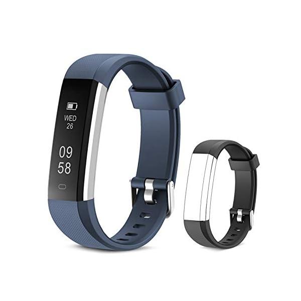 Yuanguo Pulsera de Actividad Inteligente Reloj Deportivo con Pulseras de Repuesto Podómetro Monitor de Sueño Pulsera… 1