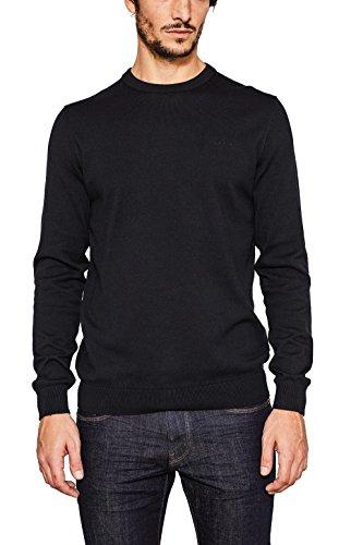ESPRIT Herren Pullover 997EE2I800, Schwarz (Black 001), Large (Pullover Feine Baumwolle)