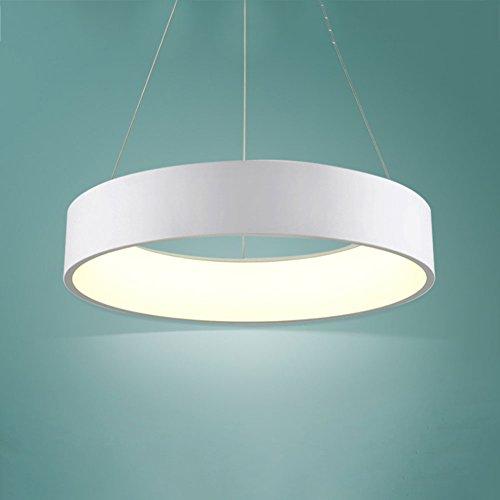 Lustre Moderne Lustres Pendentif Lumière LED Seule Anneau Plafond Luminaire Encastré Éclairage Pendentif Cercle Blanc (Dimmable) (taille : M)