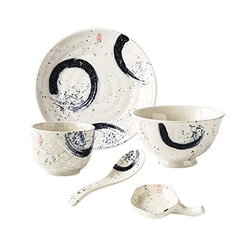 LiTing Keramik Frühstück Set Anzug Persönlichkeit nach Hause Western Gericht Schüssel Teller kreative Reisnudel Suppenschüssel
