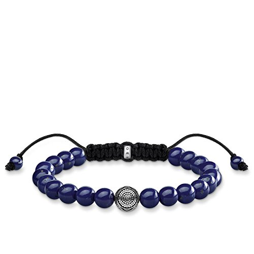 Thomas Sabo Damen Herren-Armband Ethno blau Rebel at heart 925 Sterling Silber Länge 22 cm A1779-535-1-L22v